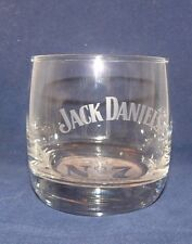 Jack Daniel Daniel's Old No 7 Clear GlassTumbler Whiskey Rock White Etch