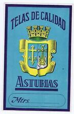 Telas de Calidad Asturias cotton spool label Mexico Mexican coat of arms