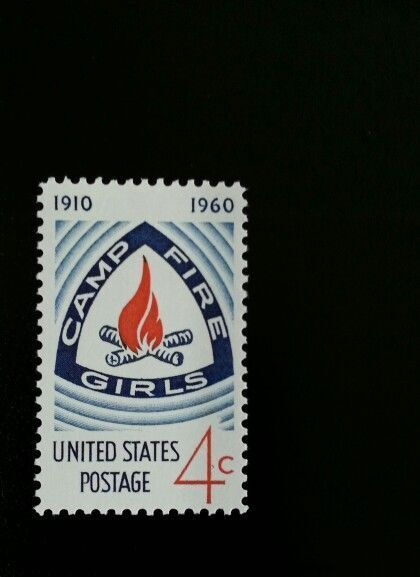 1960 4c Camp Fire Girls, 50th Anniversary Scott 1167 Mi