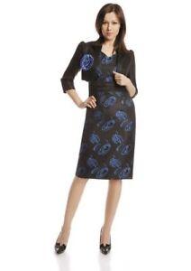 Damen Kostüm Zweiteiler Business Blazer & Kleid Elegant ...