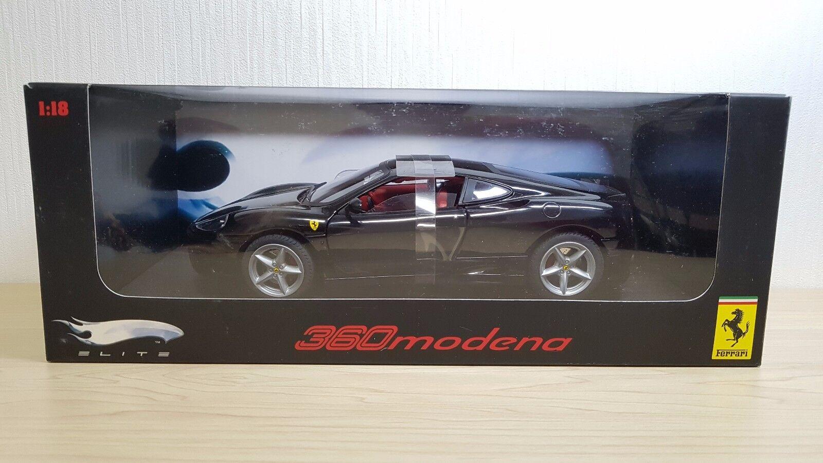 Hot Wheels Elite Ferrari 360 Modena negro nuevo modelo automóvil de fundición