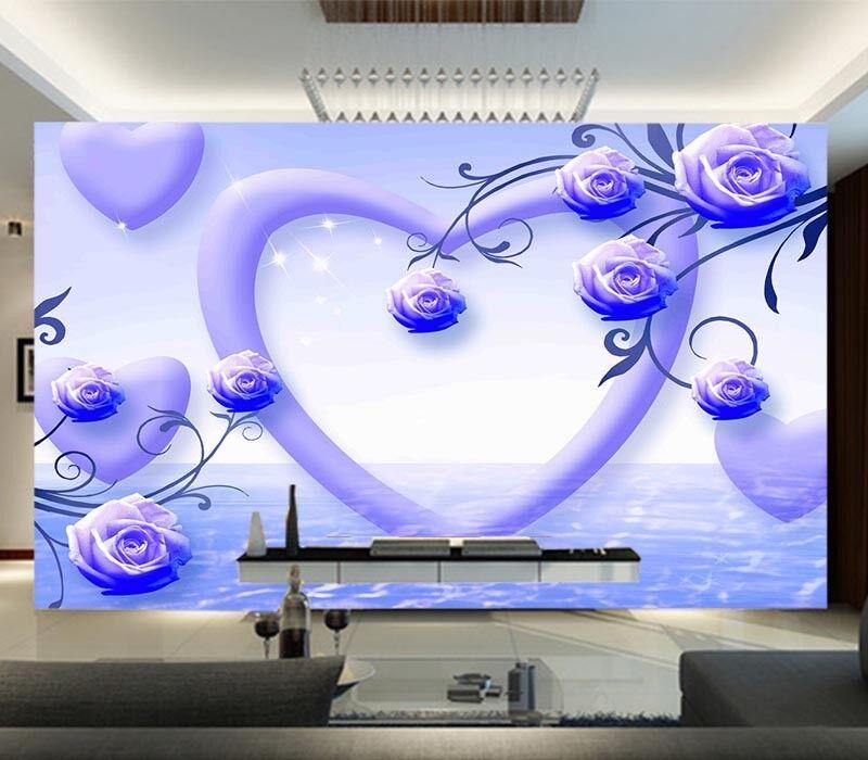 Cryatal bluee Pear 3D Full Wall Mural Photo Wallpaper Printing Home Kids Decor