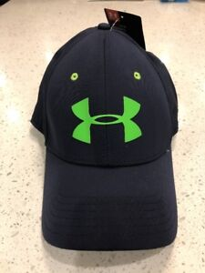 NWT Sz L XL Under Armour Navy   Lime Training Cap Hat 124682  24.99 ... 7e2be5e1fb8
