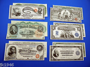 "Starter Set Number 3 /""EAGLES/"" 6 Replica U.S Currency Paper Money Copy"