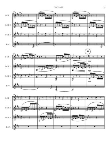 Toccata for Organ by Gigout arr for Clarinet Quartet Smart Music files free!