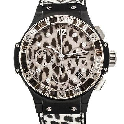 New Hublot Big Bang Snow Leopard Chrono Ceramic Watch Auto 341.CW.7717.NR.1977