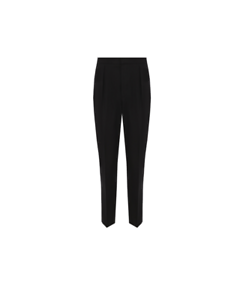 BOTTEGA VENETA Straight cut trousers made of a mixture of wool and cotton genuin