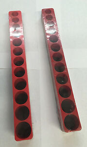 "Mechanic Time Saver D381X 12 hole magnetic socket holder organizer 3//8/"" drive"
