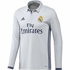 9f7bad04e Adidas Soccer 2016-17 Real Madrid Fly Emirates Home Long Sleeve ...