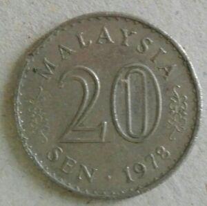 Parliament Series 20 sen coin 1978 (A)