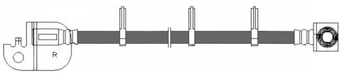 Brake Hydraulic Hose Front Right Centric 150.61093