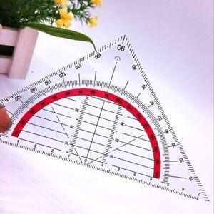 Geodreieck-unzerbrechlich-flexibel-Geometrie-Lineal-flexibel-Schule-Buero-Ru-X7X2