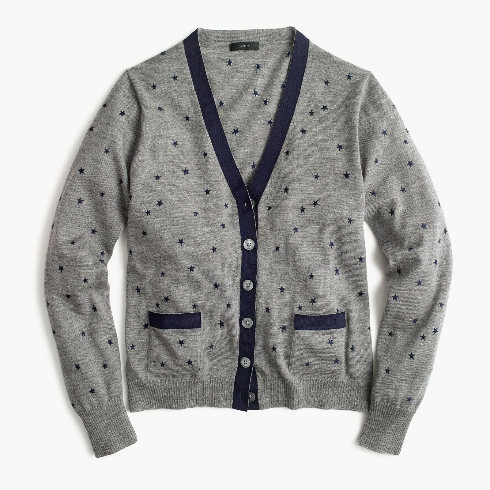 NWT  89.50 J.Crew JCREW Harlow Cardigan Sweater in Star Print Sz S RARE SOLD OUT