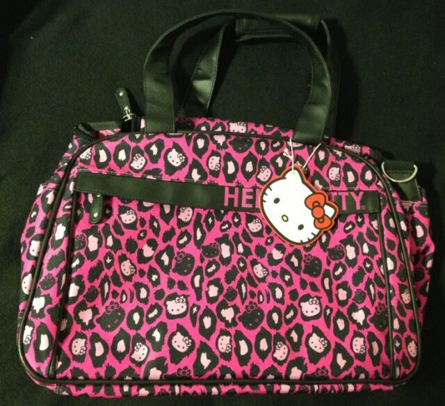 b08c4698dc Loungefly Sanrio Hello Kitty Pink Leopard Duffle Bag Luggage New NWT ...