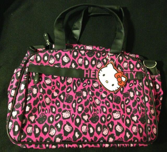 b08c4698dc Loungefly Sanrio Hello Kitty Pink Leopard Duffle Bag Luggage New NWT ...