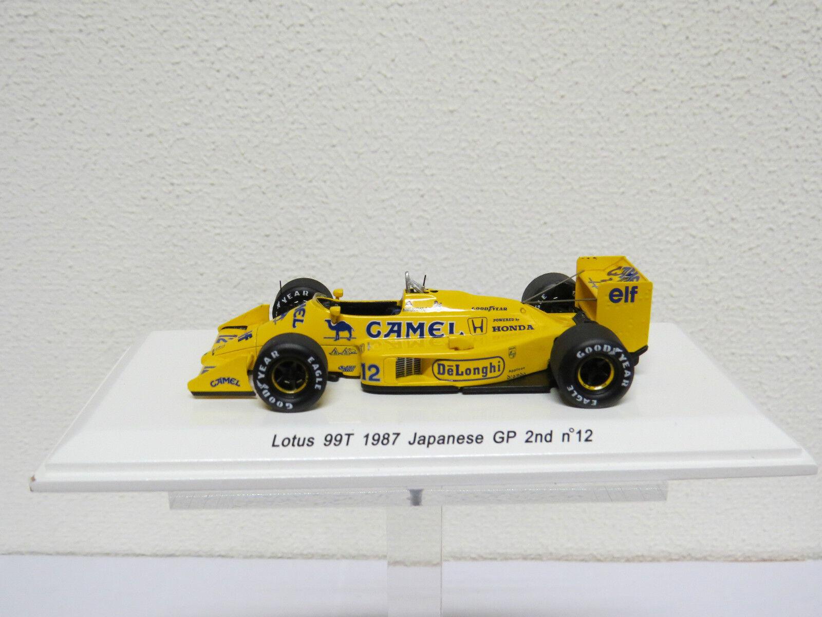 """conveniente Ayrton Senna  12 12 12 Lotus 99T 1987 """"Camel"""" Japanse GP 2nd  Revel Nr. R70183  tienda en linea"""