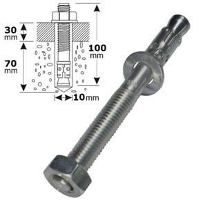 Verbundankerpatrone Schwerlastdübel Edelstahl V4 Ankerstange M10 x 165mm
