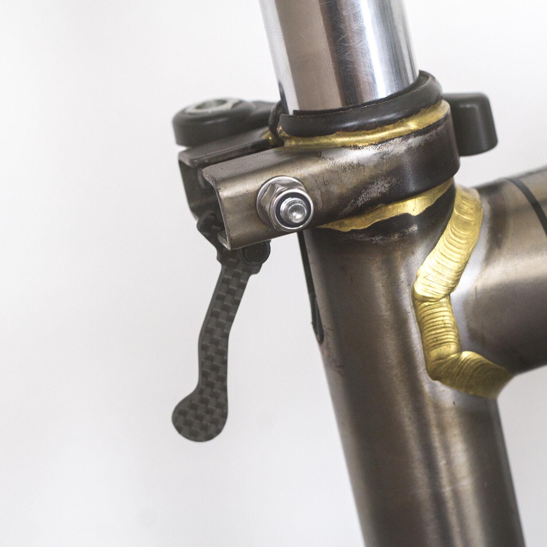 Carbone Tige de Selle Pothook pour Brompton [Super [Super [Super Léger 3.5g] Noir 8d8e05