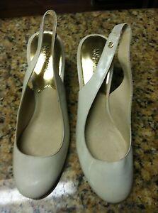 55d6f9aa35da Michael Kors women s size 9M shoes 9 kitten heels used open back ...