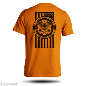 American-Motorcycle-USA-Flag-Biker-50-50-Short-Sleeve-S-M-L-XL