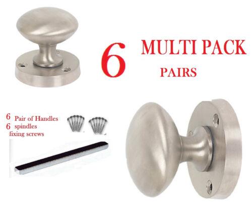 SATIN Door Knobs  Mortice Door Knob  internal DOOR HANDLE 1-7 PAIRS