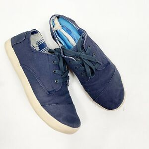 TOMS Del Ray Navy Blue Lace Up Tennis