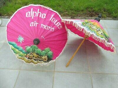 Genial 2 Thailändische Sonnenschirmchen - Pink - Mit Malerei