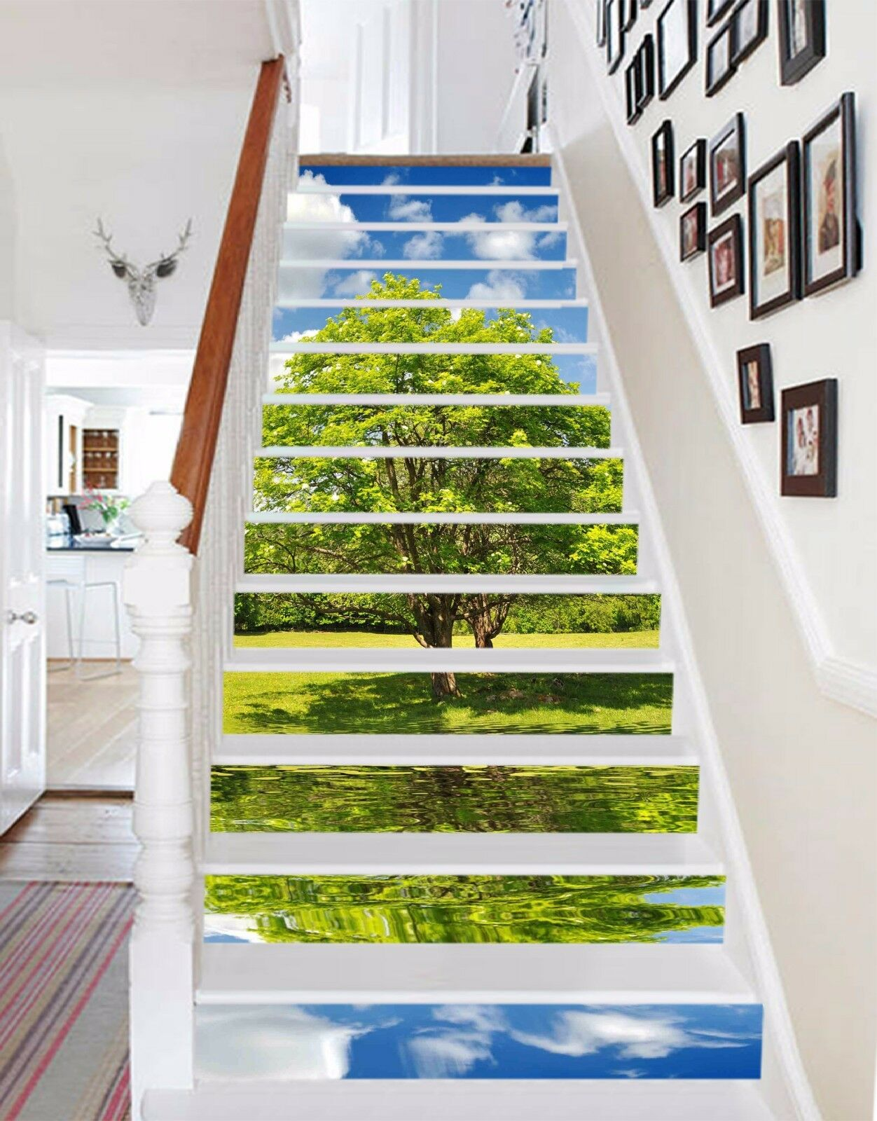 3D Grün Trees 328 Risers Decoration Photo Mural Vinyl Decal Wallpaper CA
