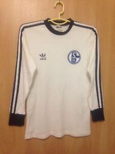 94d4f8e3514 FC SCHALKE 04 GERMANY 80'S FOOTBALL SHIRT JERSEY TRIKOT VINTAGE L/S ...