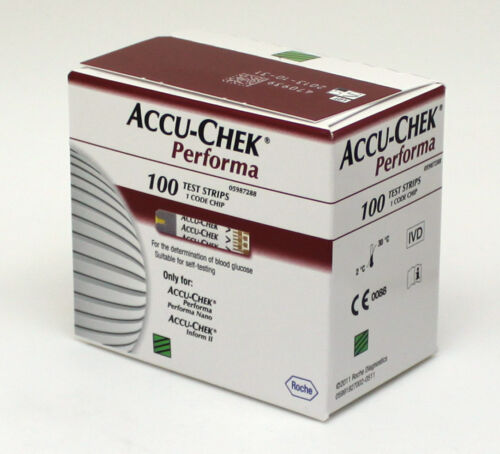 AccuChek Performa 100x3 Diabetic Test Strips300 Strips Expiry 102018 or Later