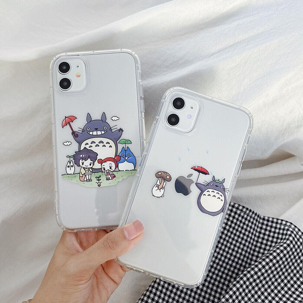 Cartoon Anime Totoro TPU Clean Phone Case For iPhone 11 Max X XR Xs 7 8 SE2020