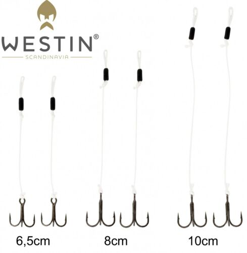 Zusatzdrillingssystem für Gummifische Westin Pro Stinger 2 Angsthaken