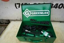 Greenlee Knock Out Hydraulic Punch And Die Set 7310 12 To 4 Nice Set