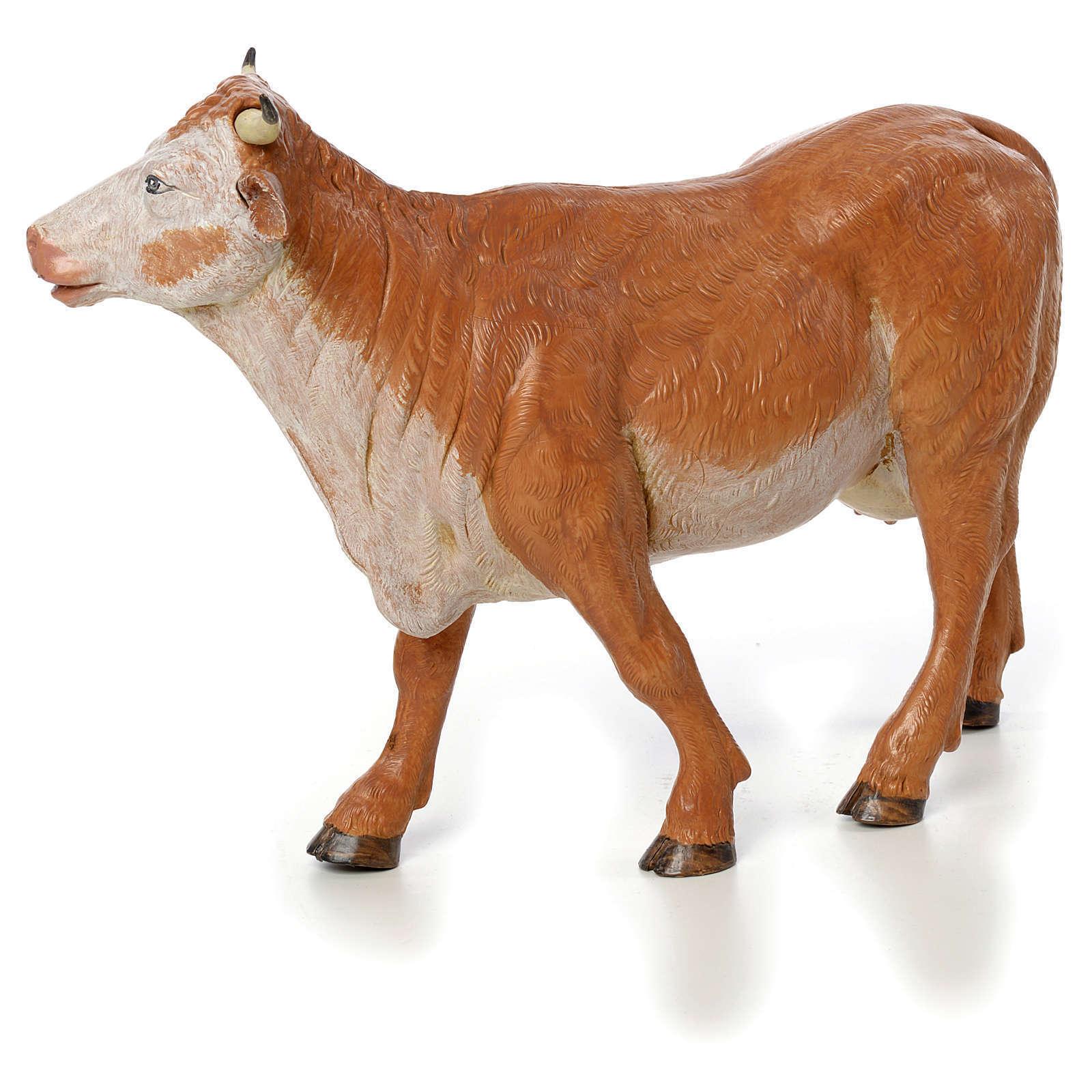 Vache debout crèche Fontanini 30 cm