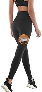 Pantalon de Sudation Femmes Legging de Sport à Taille Haute en Fitness Yoga