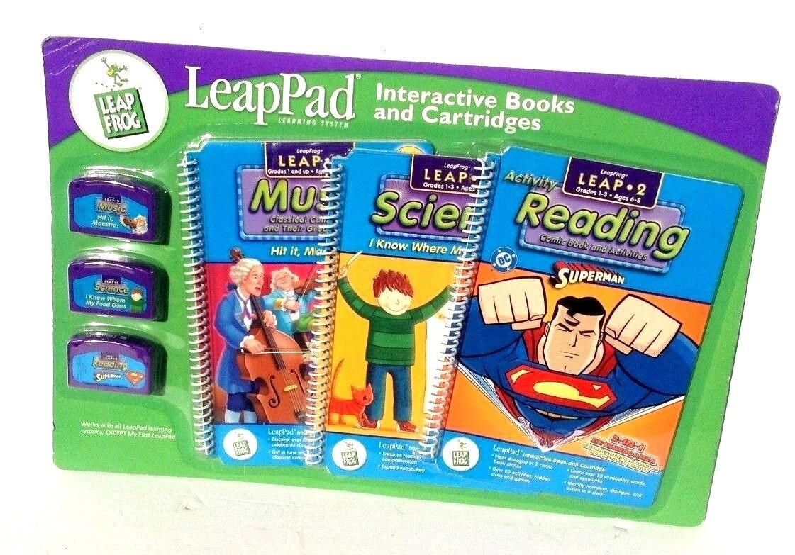 LeapPad Salto 2 Leapfrog 3 Libro Y Cochetucho De Juego-Nuevo-súperman música Ciencia