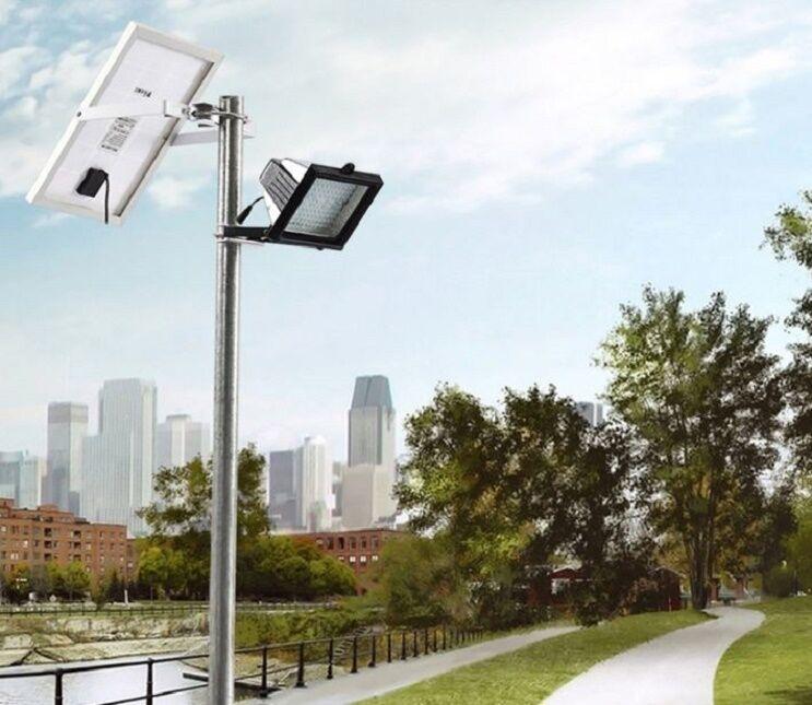 Bizlander Street Luz 10 W 108LED Potencia Solar Luz de inundación para jugar en tierra