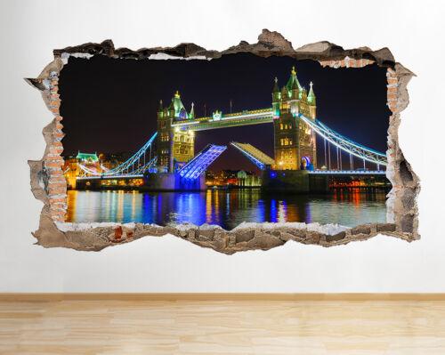 W201 pont de londres big ben city scene wall decal poster 3D art stickers vinyl