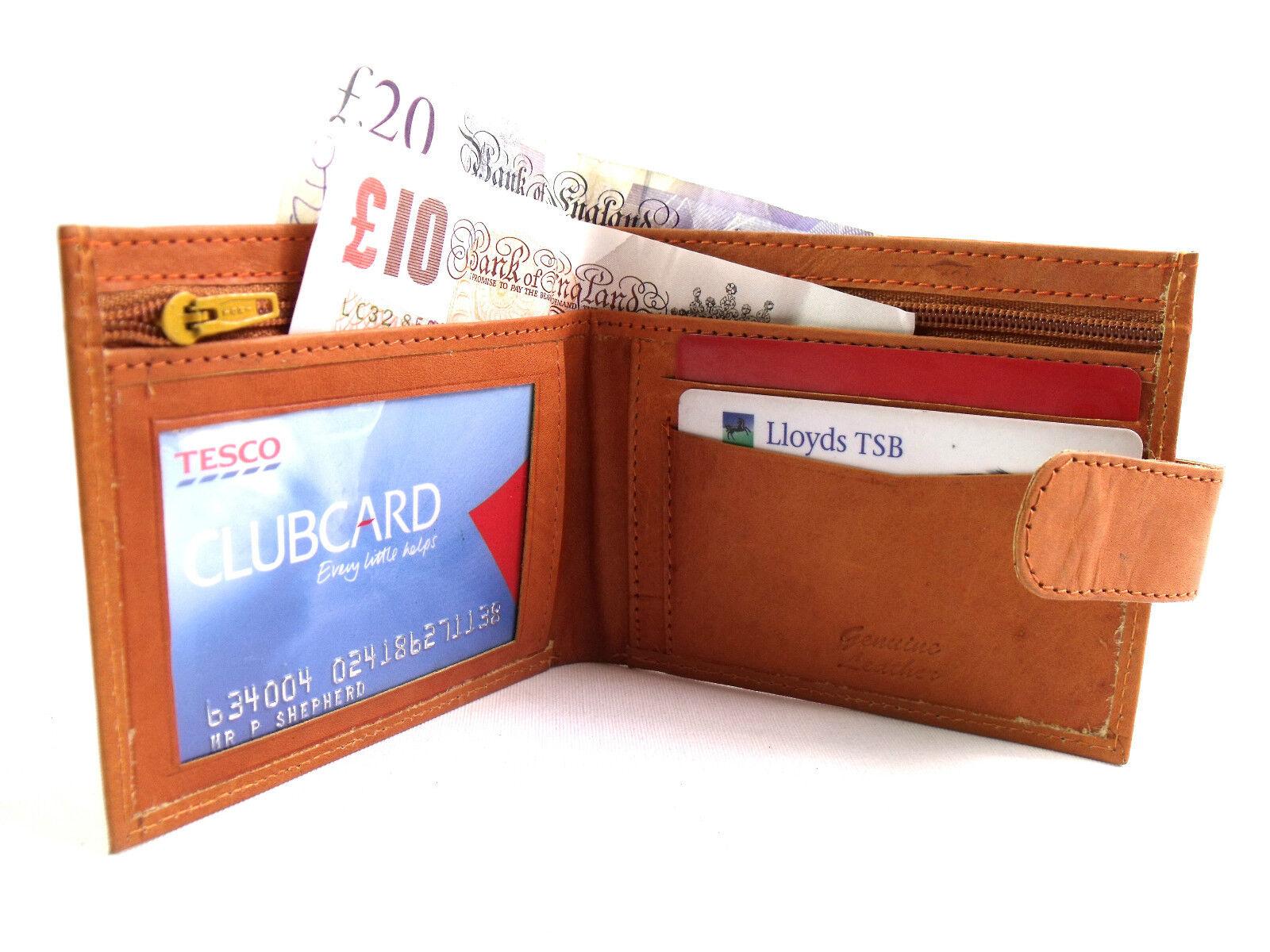 Herren Damen Hochwertig Slim Echtleder Etui Kreditkartenhalter Geldbörse