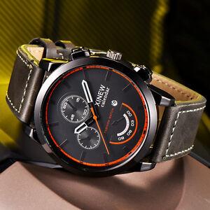 Mode-Herren-Sport-Militaer-Armbanduhr-Edelstahl-Analog-Leder-Quarz-Uhren-NEU