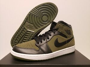 new product 02293 3188a Image is loading DS-Air-Jordan-1-Retro-MID-OLIVE-CANVAS-