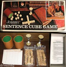 Complete Vintage 1971 Scrabble Sentence Cube Game by Selchow & Righter #96