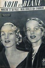 Marlène DIETRICH et sa FILLE en COUVERTURE de NOIR et BLANC No 474 de 1954