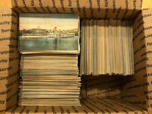 Large-Lot-of-1000-Vintage-Early-and-Mid-1900s-New-York-Postcards