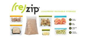 zip Blue Avocado re seal Reusable Storage Bag FDA Grade