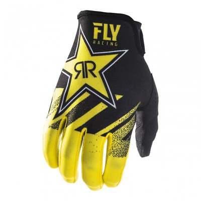 2019 Fly Racing Men/'s Lite Rockstar Energy Motocross ATV Gloves