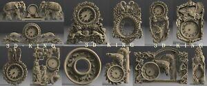 12-Pcs-STL-3D-Models-WALL-CLOCKS-ANIMALS-for-CNC-Router-Aspire-Carving-Engraver
