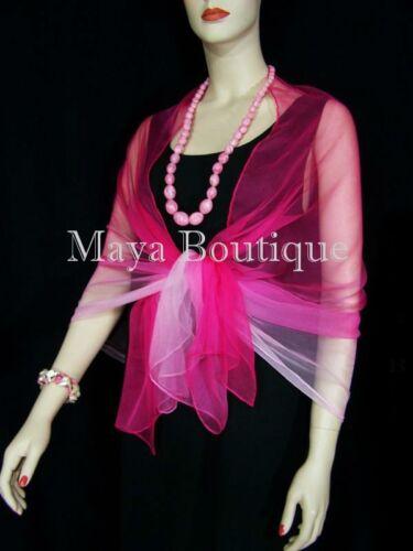 Silk Breeze Chiffon Scarf Wrap Sash Pink Ombre Maya Matazaro