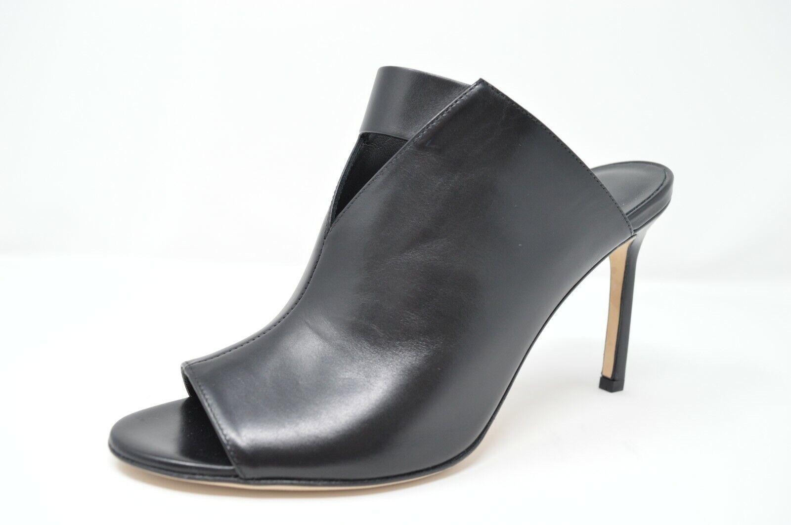 Via Spiga Mira Women's Sandals Heels Leather Peep shoes Black, Size 9 -  295