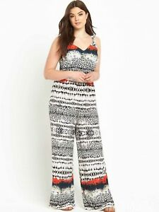 Zuversichtlich New So Fabulous Curve Wide Leg Jumpsuit Boho Summer Festival Holiday Look Uk 14 Damenmode